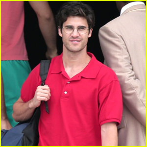 Darren Criss is All Smiles on Set of 'Versace' in L.A.