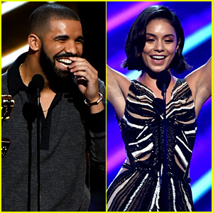 Drake & Vanessa Hudgens Get Flirty On Stage at Billboard Music Awards 2017 (Video)
