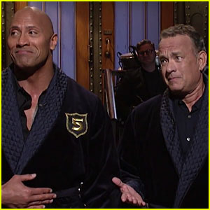 Dwayne Johnson Announces He's Running For President With Tom Hanks in 'SNL' Monologue –  Watch Now! (Video)