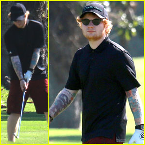 Ed Sheeran Gets in Round of Golf Before Brazil Tour Stops