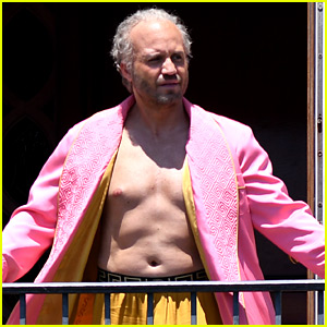 Edgar Ramirez Goes Shirtless, Wears Pink Robe for 'Versace'