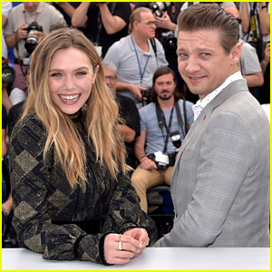 Elizabeth Olsen & Jeremy Renner Team Up in Cannes for 'Wind River' Photo Call