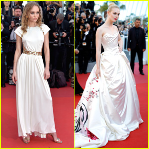 Lily-Rose Depp & Elle Fanning Steal The Show at Cannes Opening Ceremonies