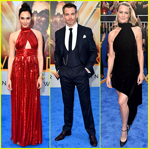 Wonder Woman's Gal Gadot, Chris Pine, & Robin Wright Team Up for Hollywood Premiere