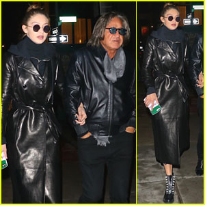 Gigi Hadid & Dad Mohamed Have 'One Hell of a Meal'