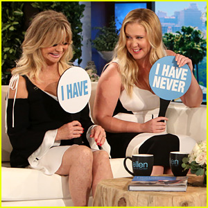 Amy Schumer & Goldie Hawn Play 'Never Have I Ever' & Reveal Lots of Hilarious Tidbits!