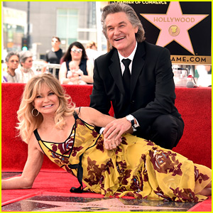 Goldie Hawn & Kurt Russell Receive Stars on Hollywood Walk of Fame Together!