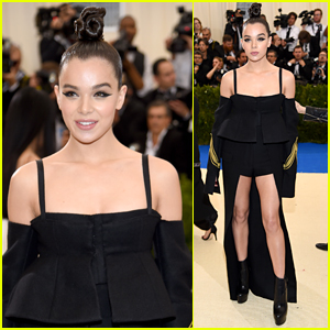 Hailee Steinfeld Shows Off Her Legs in Vera Wang at Met Gala 2017
