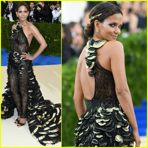 Halle Berry Goes Sheer in Custom Jumpsuit at Met Gala 2017
