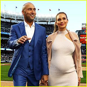 Pregnant Hannah Jeter Supports Husband Derek at Number Retirement Ceremony!