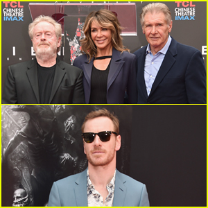 Harrison Ford, Michael Fassbender & 'Alien' Cast Support Ridley Scott At Hollywood Imprint Ceremony!