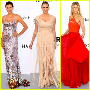 Irina Shayk, Kate Upton, & Doutzen Kroes Bring All the Glam to amfAR Cannes Gala 2017