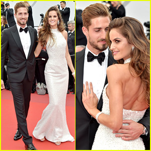Izabel Goulart & Boyfriend Kevin Trapp Couple Up on Cannes Red Carpet!