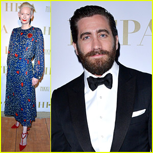 Jake Gyllenhaal & Tilda Swinton Step Out for HFPA Event in Cannes!