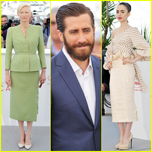 Jake Gyllenhaal, Tilda Swinton & Lily Collins Debut 'Okja' At Cannes Film Fest!