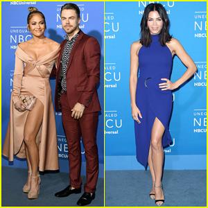 Jennifer Lopez Joins Derek Hough & Jenna Dewan At NBC Upfronts For 'World Of Dance'!