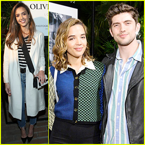 Jessica Alba Helps Celebrate Oliver Peoples' 30th Anniversary!