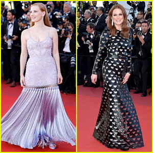 Jessica Chastain & Julianne Moore Continue Their Fashion Fun in Cannes!
