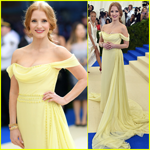 Jessica Chastain Stuns in Prada for the Met Gala 2017