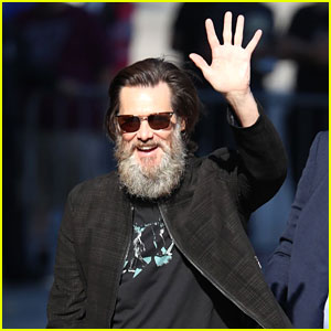 Jim Carrey Flaunts His Bushy Beard Ahead of 'Jimmy Kimmel Live' Appearance