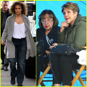 Jennifer Lopez Brings Her Mom & Aunt to 'Shades' Set!