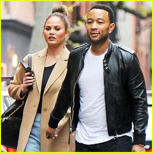 John Legend & Chrissy Teigen Stroll Manhattan Before Met Gala