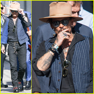 Johnny Depp Greets Jimmy Kimmel With A Smooch, Talks Surprising People at Disneyland - Watch Here!