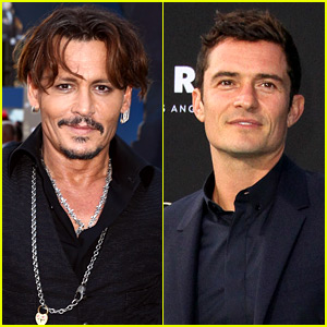 Johnny Depp & Orlando Bloom Premiere 'Pirates' in Hollywood