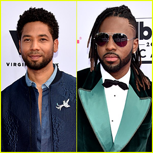 Jussie Smollett & Jason Derulo Look Suave at BBMAs 2017