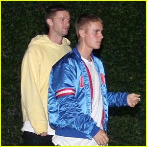 Justin Bieber Hangs in the Hamptons with Patrick Schwarzenegger & Abby Champion!