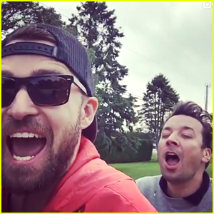 Justin Timberlake & Jimmy Fallon Go 'Bro-Biking' in The Hamptons - Watch!