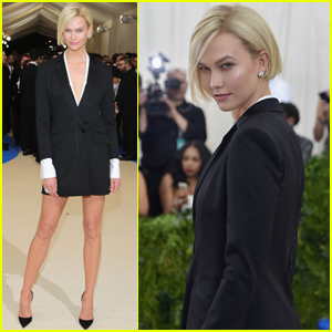 Karlie Kloss Hits the Met Gala Red Carpet After Arriving in a Pedicab