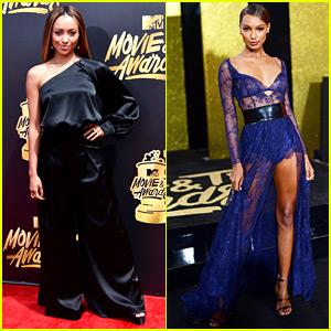 Kat Graham & Jasmine Tookes Strut Down MTV Awards Red Carpet!