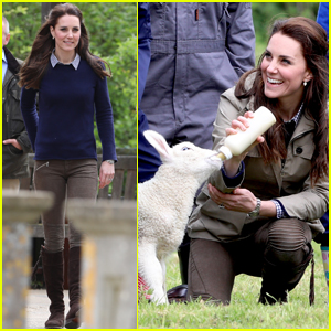 Kate Middleton Takes a Trip to a Children's Farm & Feeds a Lamb!