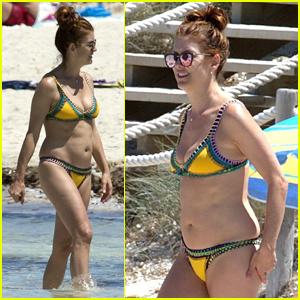 Kate Walsh Hits the Beach in a Bikini During Ibiza Vacation!