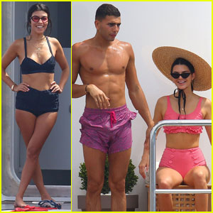 Kourtney Kardashian & Younes Bendjima Hang Out With Kendall Jenner On Yacht in Cannes
