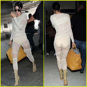 Kendall Jenner Goes Braless in Sheer Top & See-Through Pants