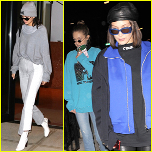 Kendall Jenner Heads to Dinner with Gigi & Bella Hadid in NYC