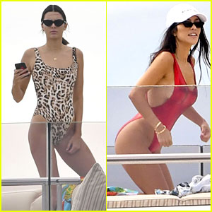 Kourtney Kardashian & Kendall Jenner Soak Up the Sun in Cannes
