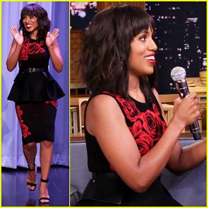 Kerry Washington & Jimmy Fallon Sing It Out For 'Tonight Show's Whisper Challenge - Watch Here!
