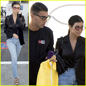 Kourtney Kardashian & Younes Bendjima Take Their Romance to Solid Ground