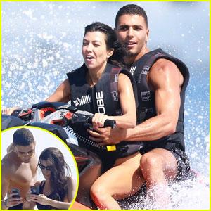 Kourtney Kardashian & Younes Bendjima Jet Ski in Cannes
