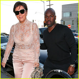 Kris Jenner Wears See-Through Top for Dinner Date With Corey Gamble