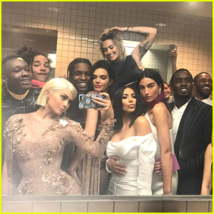 Kylie Jenner Takes Epic Met Gala 2017 Bathroom Selfie with Tons of Stars!