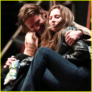 Lady Gaga Ices an Injury with Bradley Cooper for 'A Star is Born'
