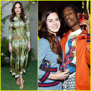 Lana Del Rey Joins Dakota Johnson at Gucci's NYC Event!