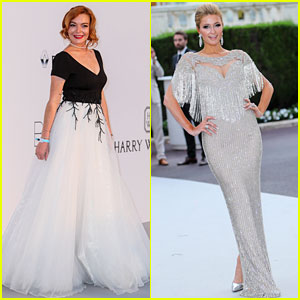 Lindsay Lohan & Paris Hilton Glam Up for amfAR Cannes Gala!