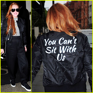 Mean Girls' Lindsay Lohan Wears 'You Can't Sit With Us' Jacket