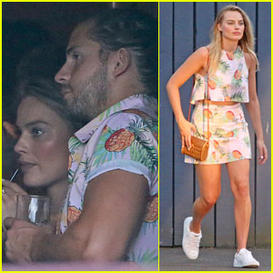 Margot Robbie & Tom Ackerley Match in Pineapple-Print Outfits in Hawaii