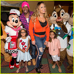 Mariah Carey & Nick Cannon Reunite at Disney for Moroccan & Monroe's Birthday Party!